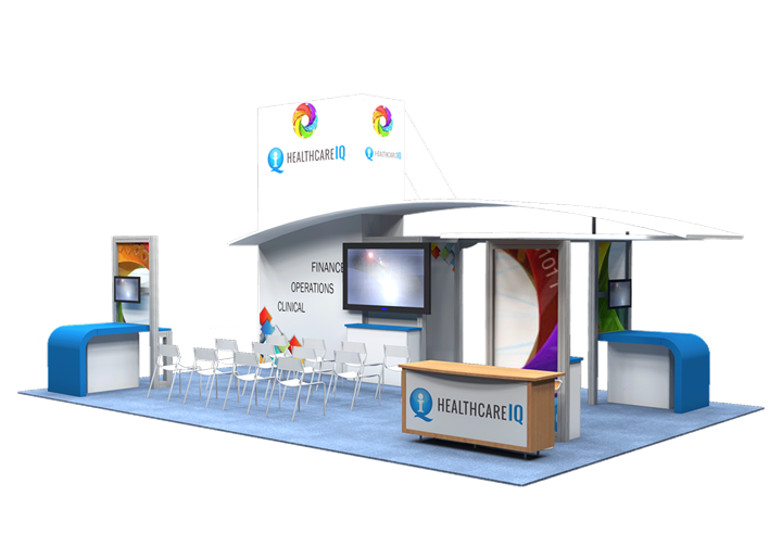 Healthcare IQ  - 20x30 - trade show exhibit
