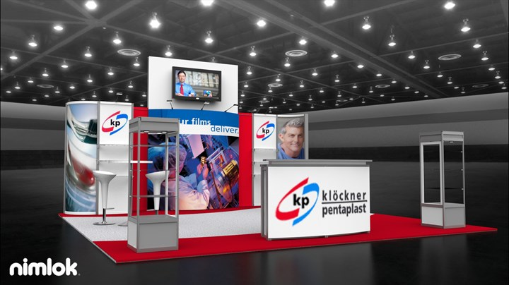 Klockner Pentoplast - 20x20 - trade show exhibit