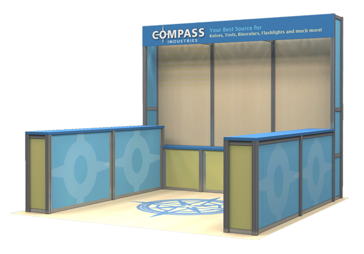 Compass Industries - 10x10 - trade show exhibit
