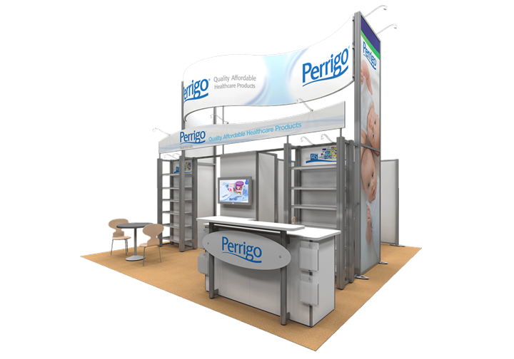 PBM - Perrigo Nutritionals - 20x20 - trade show exhibit