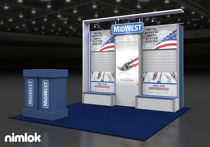 Midwest Snips - 10x10 - trade show exhibit