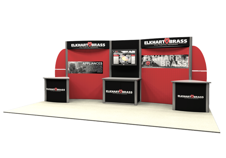 Elkhart Brass - 10x20 - trade show exhibit