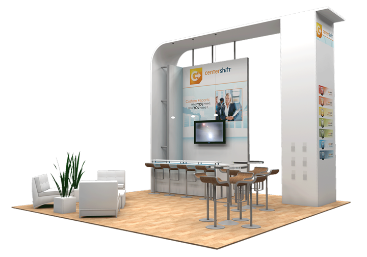 Centershift - 20x20 - trade show exhibit