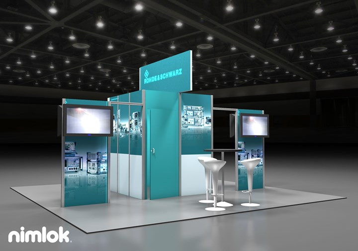 Rohde and Schwarz - 20x20 - trade show exhibit