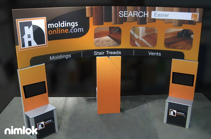 Moldings Online - 20x30 - trade show exhibit