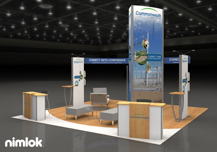Commonwealth Associates - 20x20 - trade show exhibit