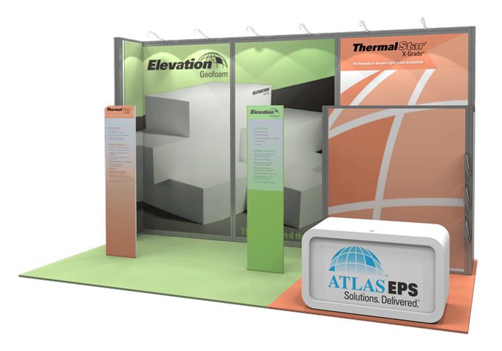 Atlas EPS - 10x20 - trade show exhibit