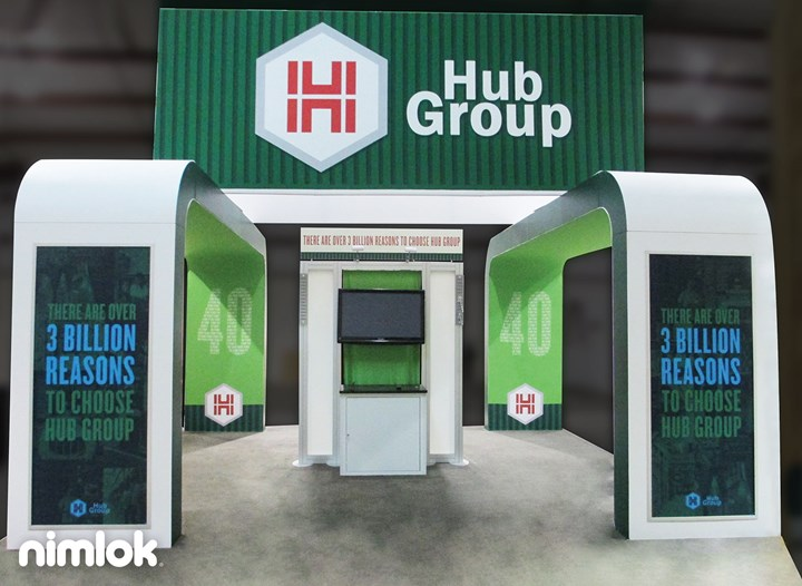 Hub Group - 20x20 - trade show exhibit