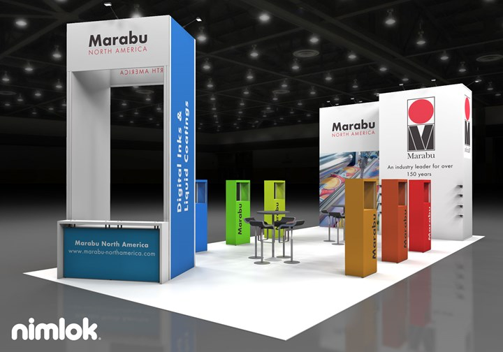 Marabu - 20x40 - trade show exhibit