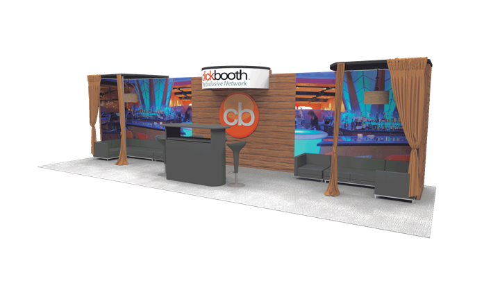 Clickbooth - 10x30 - trade show exhibit