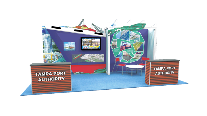 Tampa Port Authority  - 10x20 - trade show exhibit
