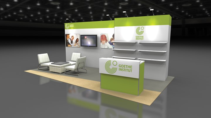 Goethe Institute - 10x20 - trade show exhibit