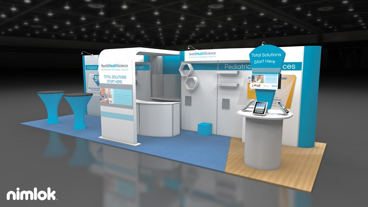 Nestle Health Science - 10x30 - trade show exhibit