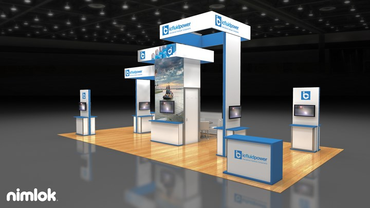 icfluid power - 20x40 - trade show exhibit