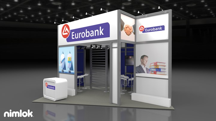 Eurobank (Sibos) - 20x13 - trade show exhibit