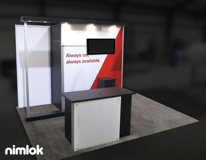 Corporate Dimensions - 10x20 & 10x10 - trade show exhibit