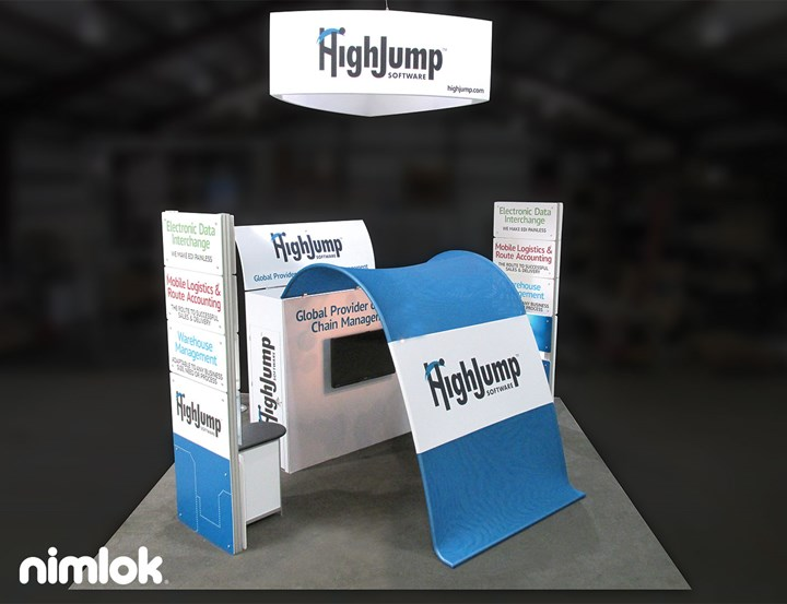 High Jump - 20x20 - trade show exhibit