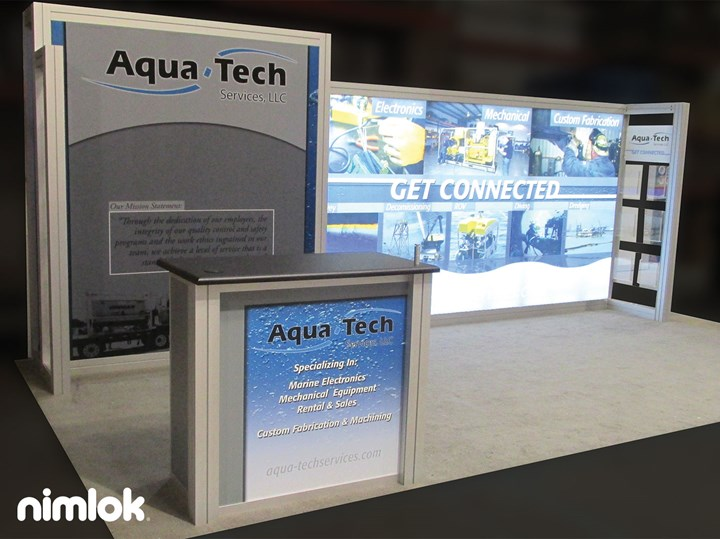 Aqua Tech - 10x20 - trade show exhibit