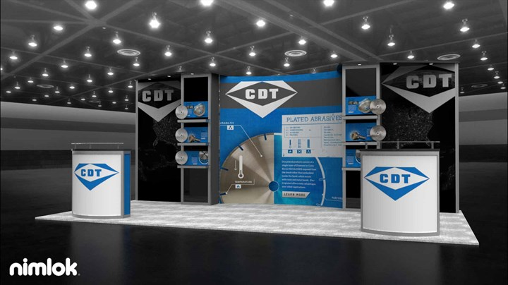 Continental Diamond Tool - 10x20 - trade show exhibit