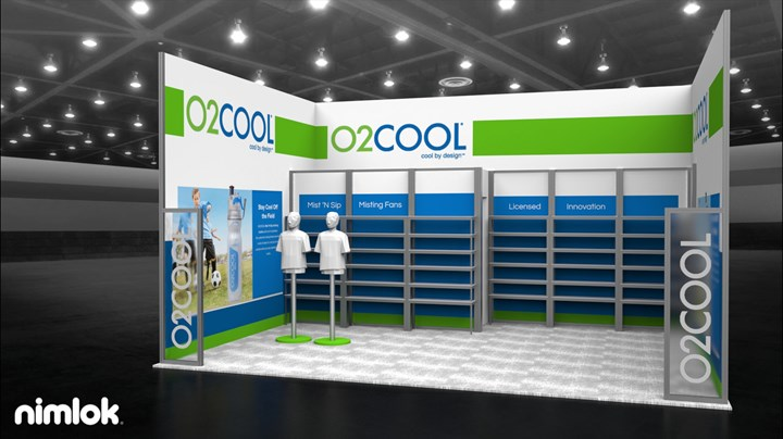 O2 Cool  - 15x20 - trade show exhibit