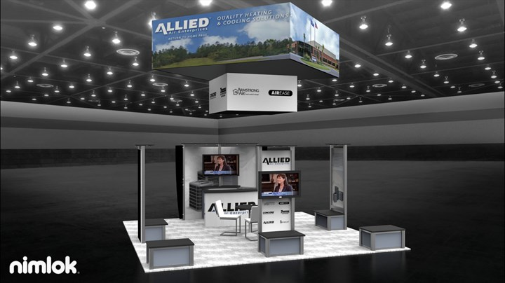 Sun Solutions - Allied Air - 20x20 - trade show exhibit