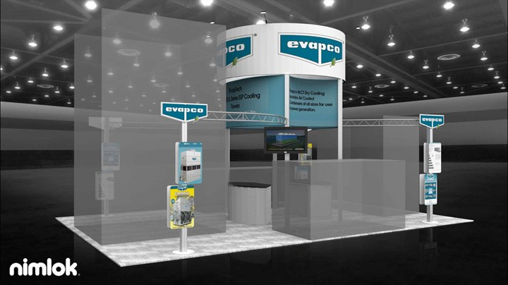 Evapco - 20x30 - trade show exhibit