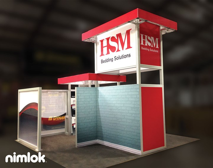 HSM Bedding Solutions - 30x40 - trade show exhibit