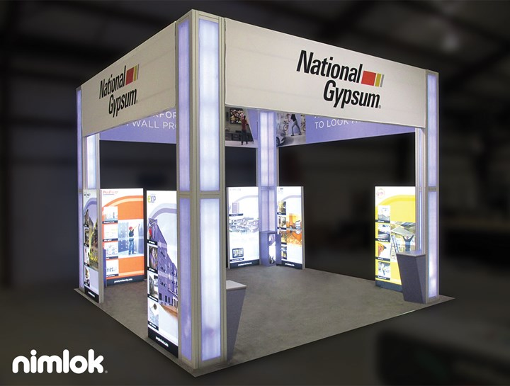 National Gypsum - 20x30 - trade show exhibit