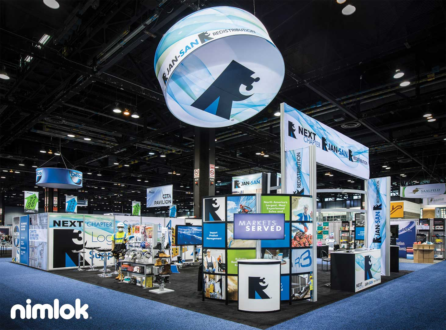 R3 Distribution's reconfigurable exhibit