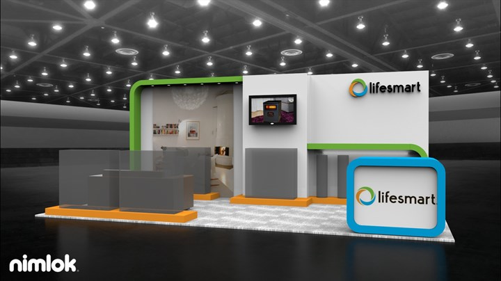 Wessels Associates / LifeSmart - 10x20 - trade show exhibit