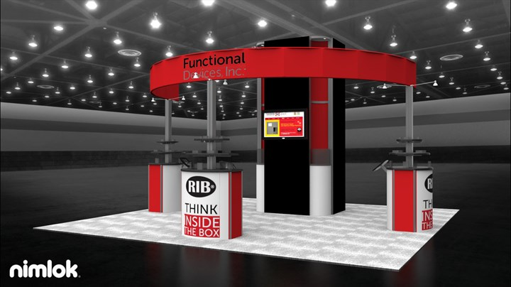 Functional Devices - 20x20 - trade show exhibit