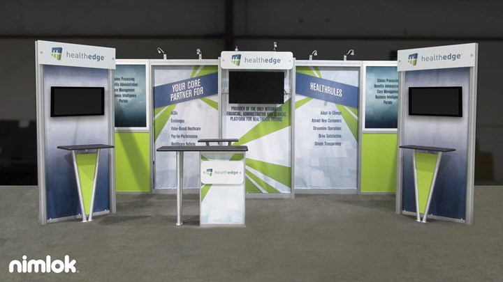 Health Edge - 10x20 - trade show exhibit