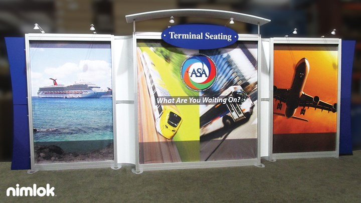 Airport Seating - 10x20 - trade show exhibit