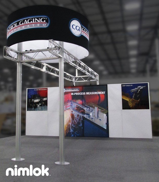 Control Gaging - 20x20 - trade show exhibit