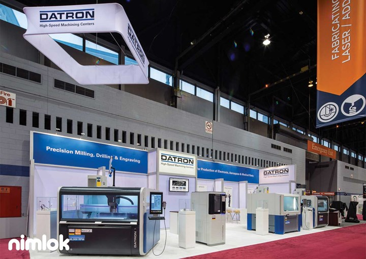 Datron - 20x50 - trade show exhibit