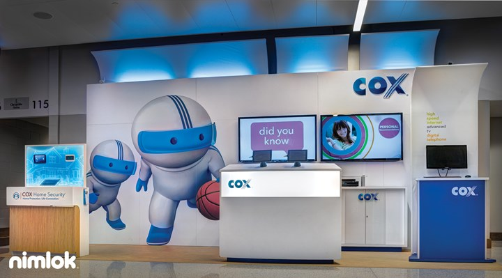Cox Communications - 9x22 - trade show exhibit