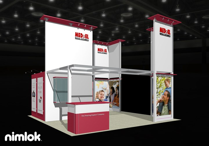 MED-EL - 20x20 - trade show exhibit