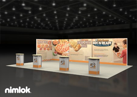 Little Caesars - 20x30 - trade show exhibit