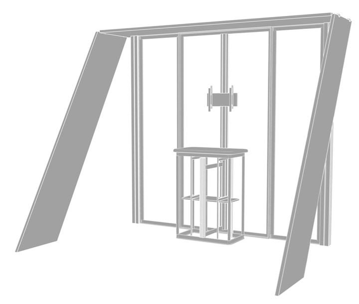 Rental 10ft Hybrid Pro Modular Kit 07 - rental display