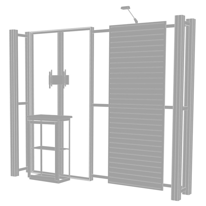 Rental 10ft Hybrid Pro Modular Kit 08 - rental display