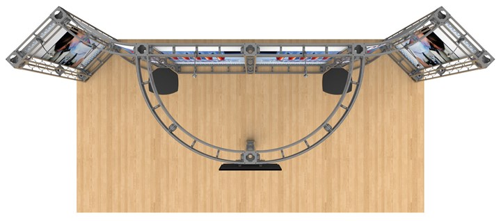 Rental 10x20 Truss Antares - rental display