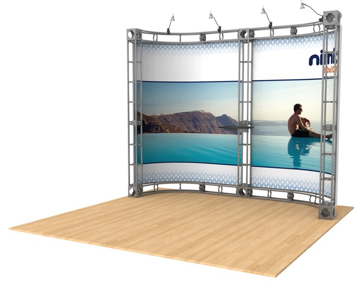 Rental 10x10 Truss Castor - rental display
