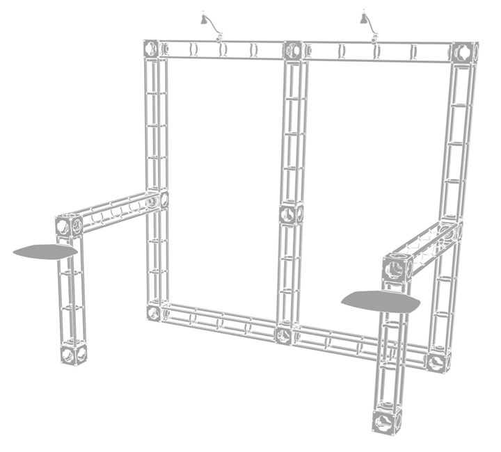 Rental 10x10 Truss Mars - rental display