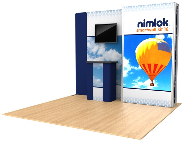 Rental 10ft SmartWall Kit 16 - rental display