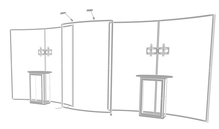 Rental 20ft SmartWall Kit 21 - rental display