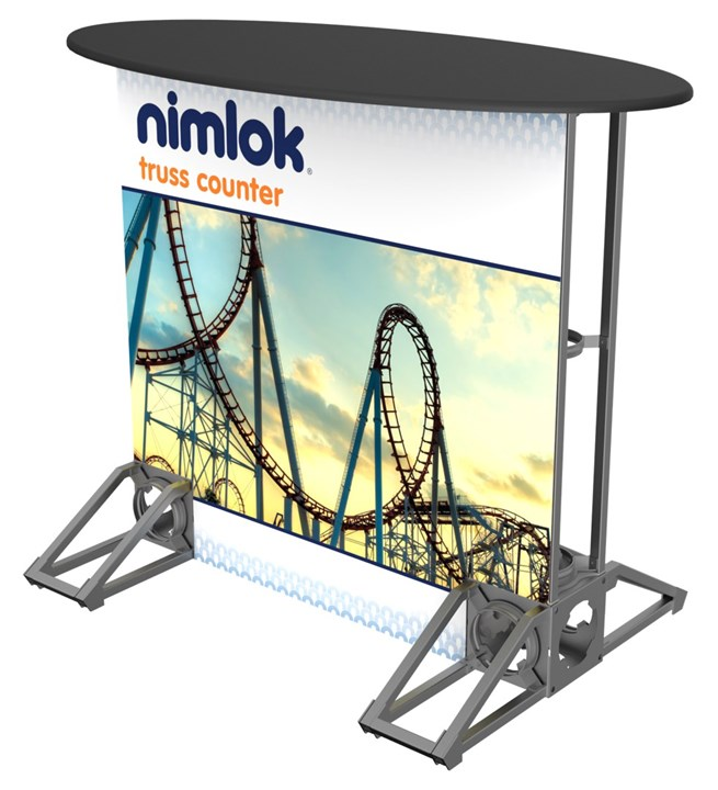 Rental Truss Oval Counter - rental display