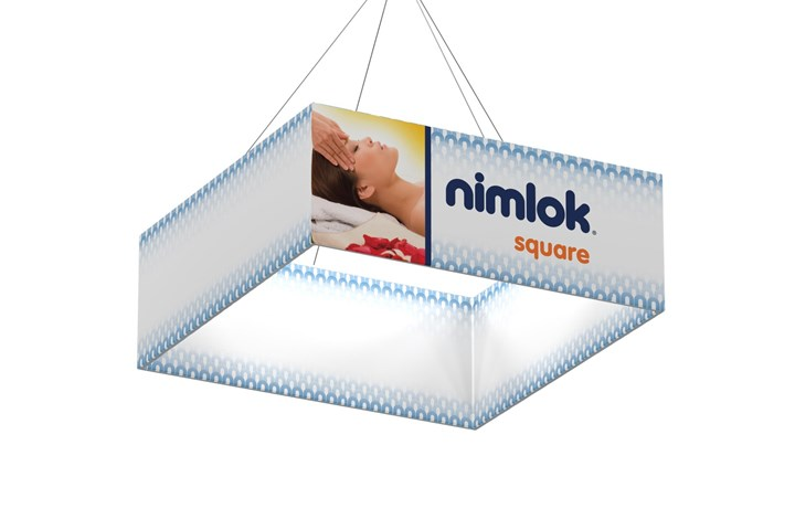 Rental Wave Square Hanging Structure - rental display