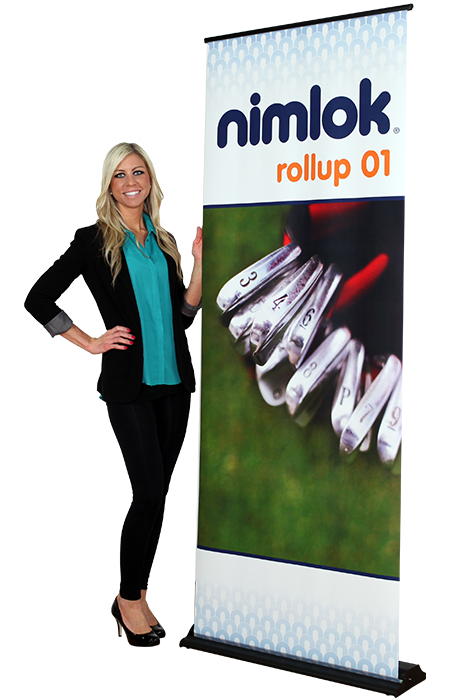 Rollup 01 Retractable Banner Stand - portable display