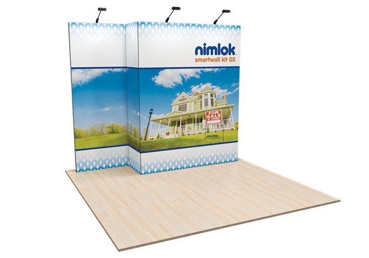 SmartWall 03 10ft Modular Display - portable display