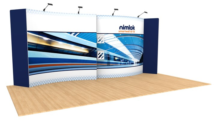SmartWall 18 20ft Modular Display - portable display